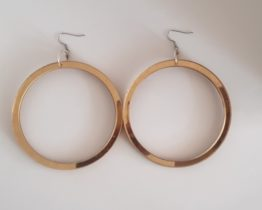 Drop hoop statement earrings