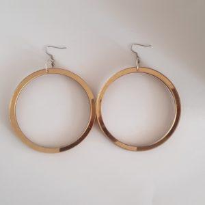 Drop hoop statement earrings