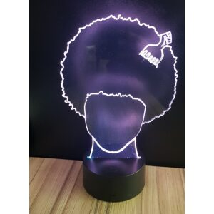 Afro boy night light