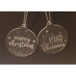 Crystal Clear Christmas Baubles