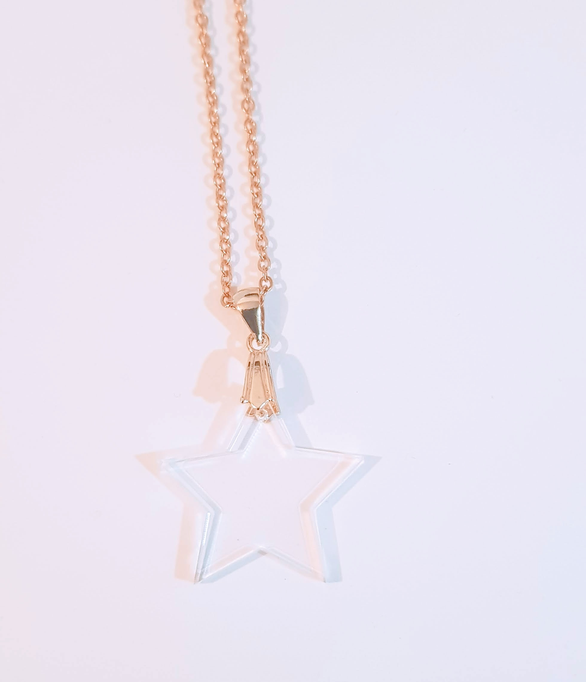 Clear Star Necklace